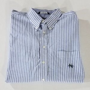 Vintage Nautica Striped Button Down Shirt